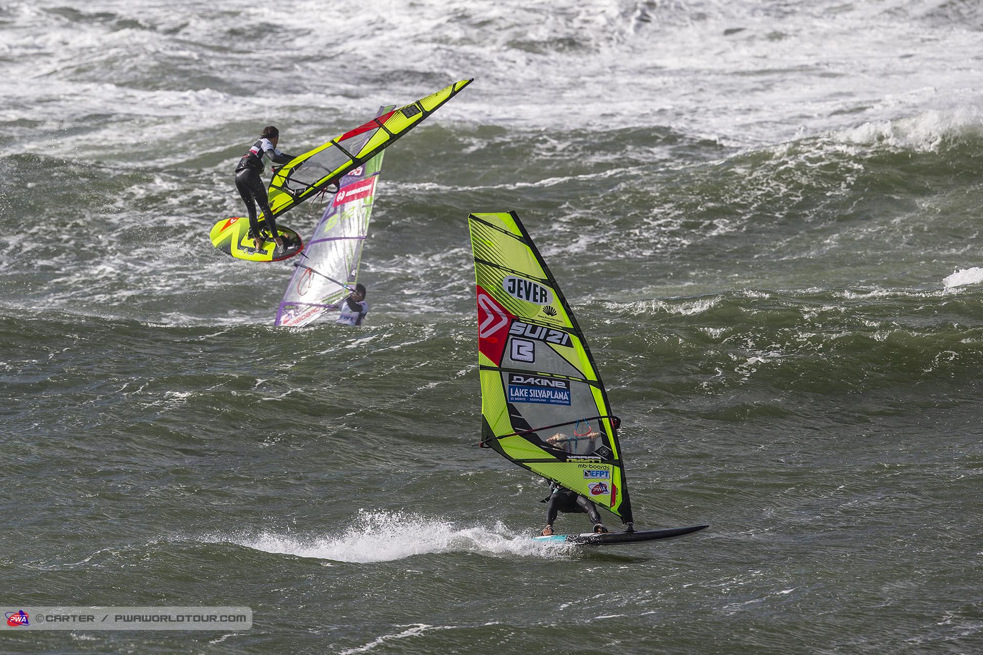 Dieter van der Eyken und Balz Müller beim Windsurf World Cup Sylt