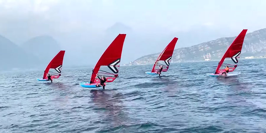 iFoil Test am Gardasee für die olympischen Spiele 2024 in Paris